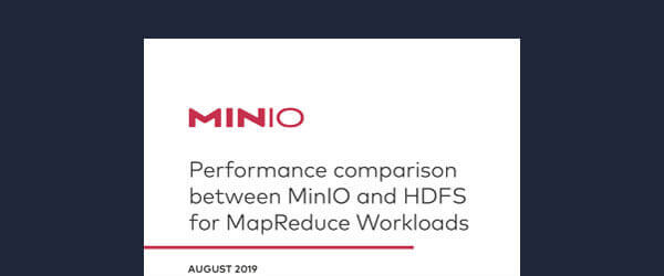 Performance comparison between MinIO and HDFS for MapReduce Workloads