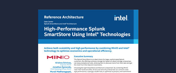 High-Performance Splunk SmartStore Using Intel Technologies