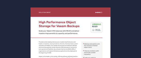 High Performance Object Storage for Veeam Backups